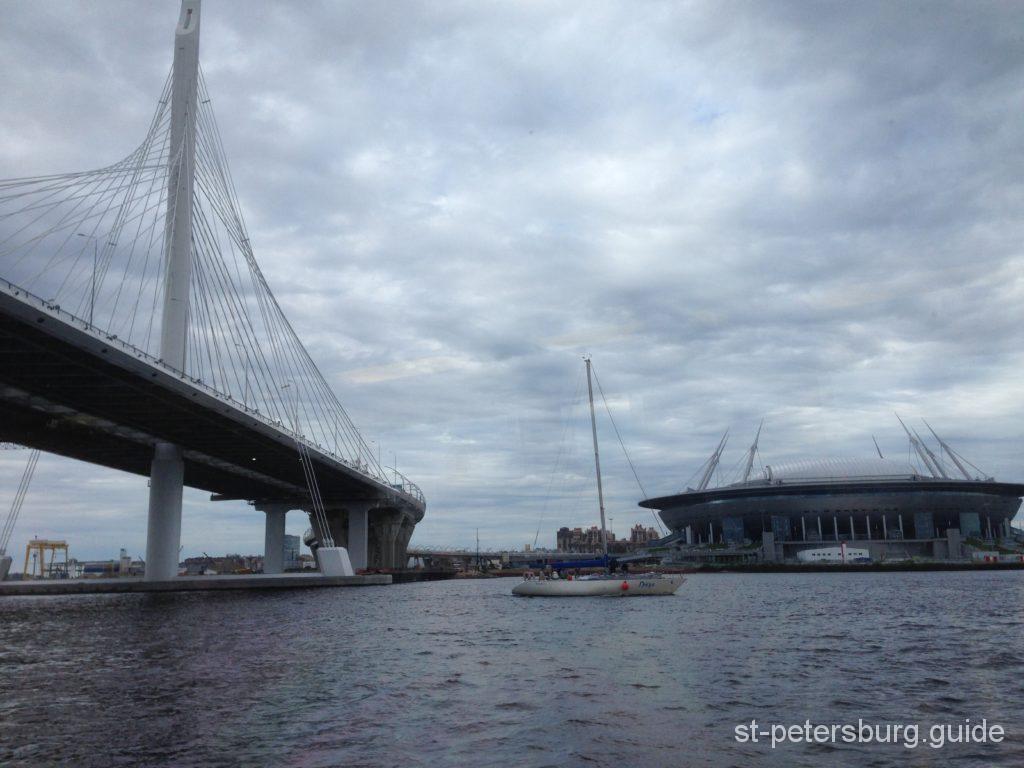 Cable Truss Bridge and Stadium Saint Petersburg