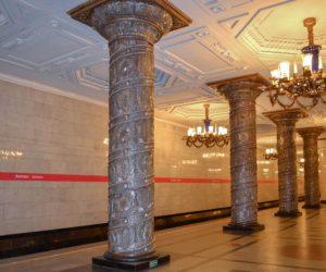 Avtovo Glass Columns