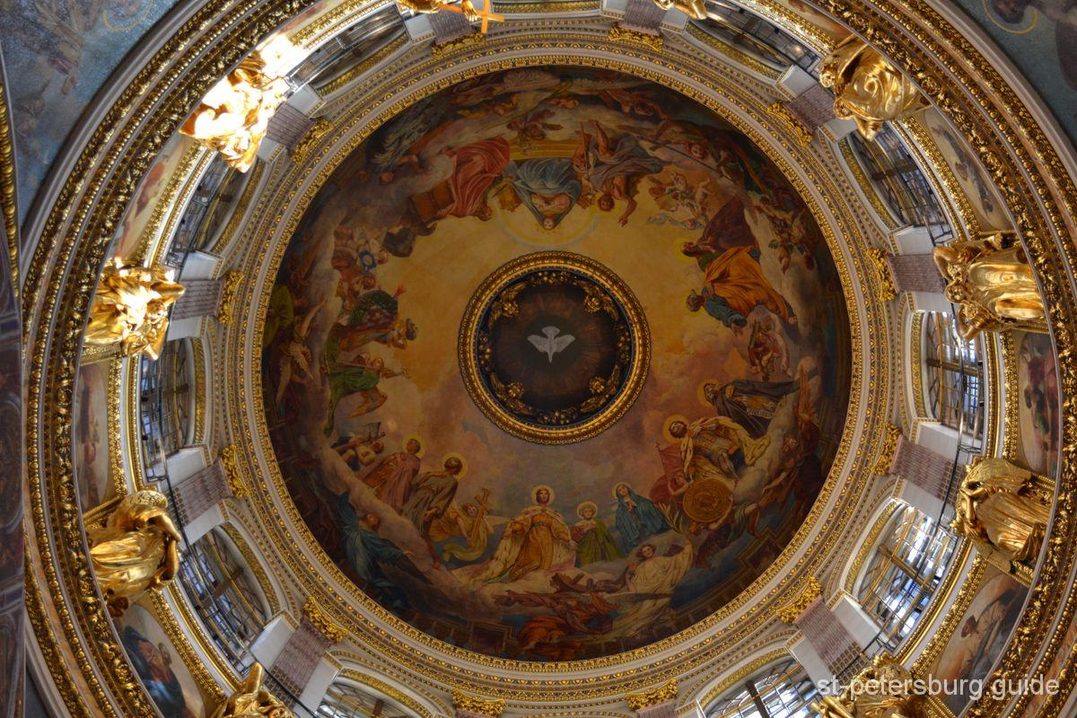 Isaac Cathedral Ceiling painting