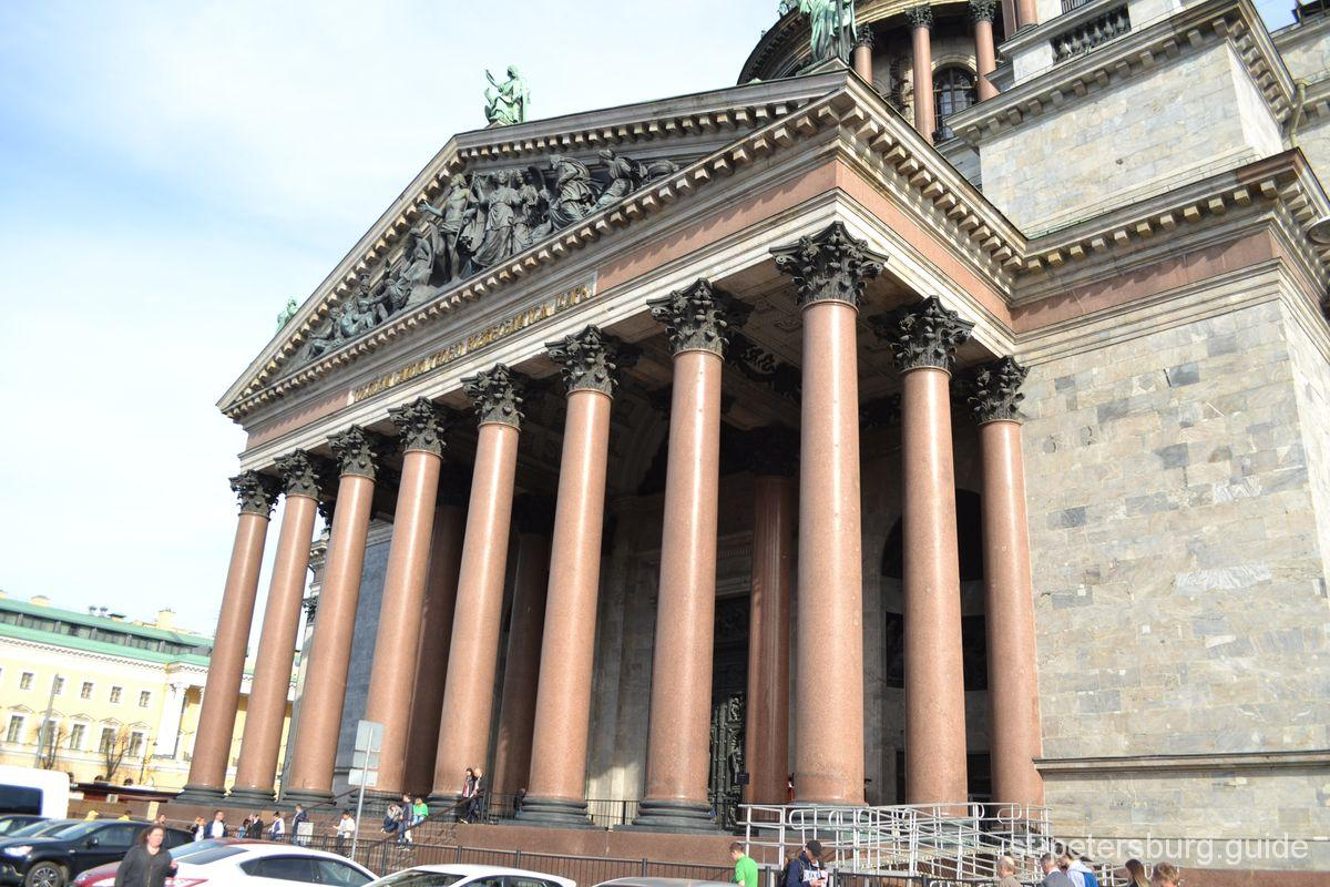 Isaac Cathedral columns portico
