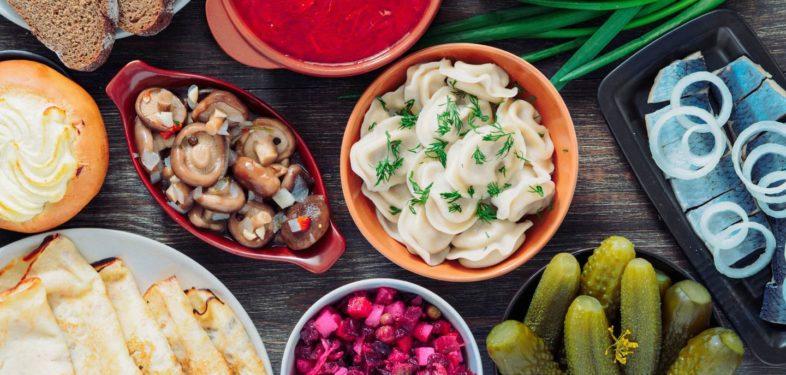 Russian food Pelmeni