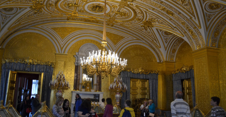 Gold drawing room in Hermitage Museum