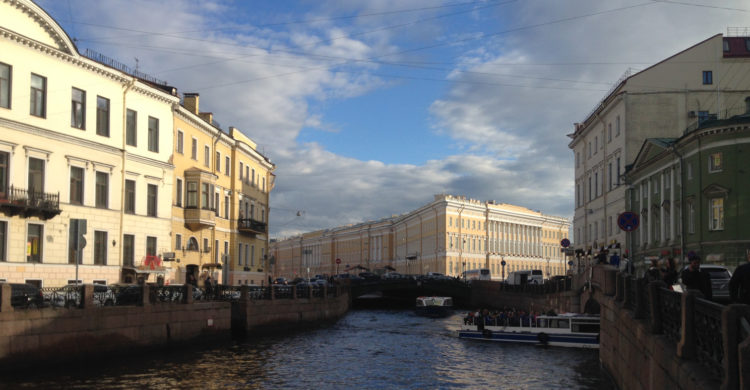 channel in St Petersburg river