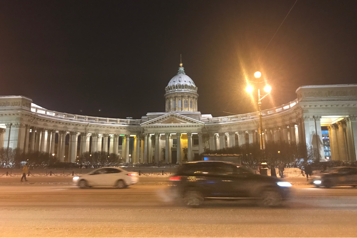 Kazan Cathedral in the evening