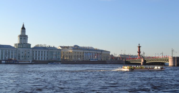 Kunstkamera view from the Neva river