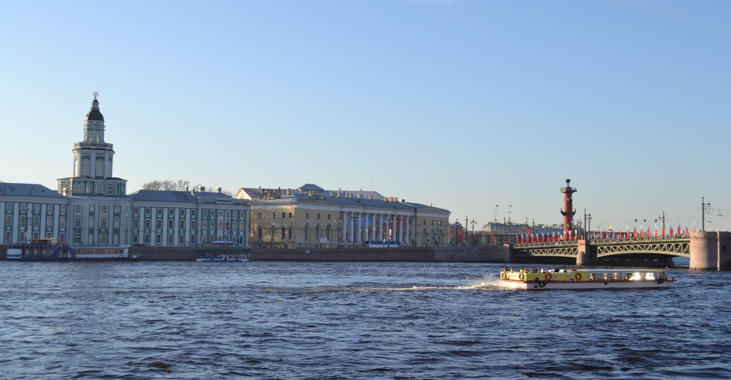 Kunstkamera view from the Neva river
