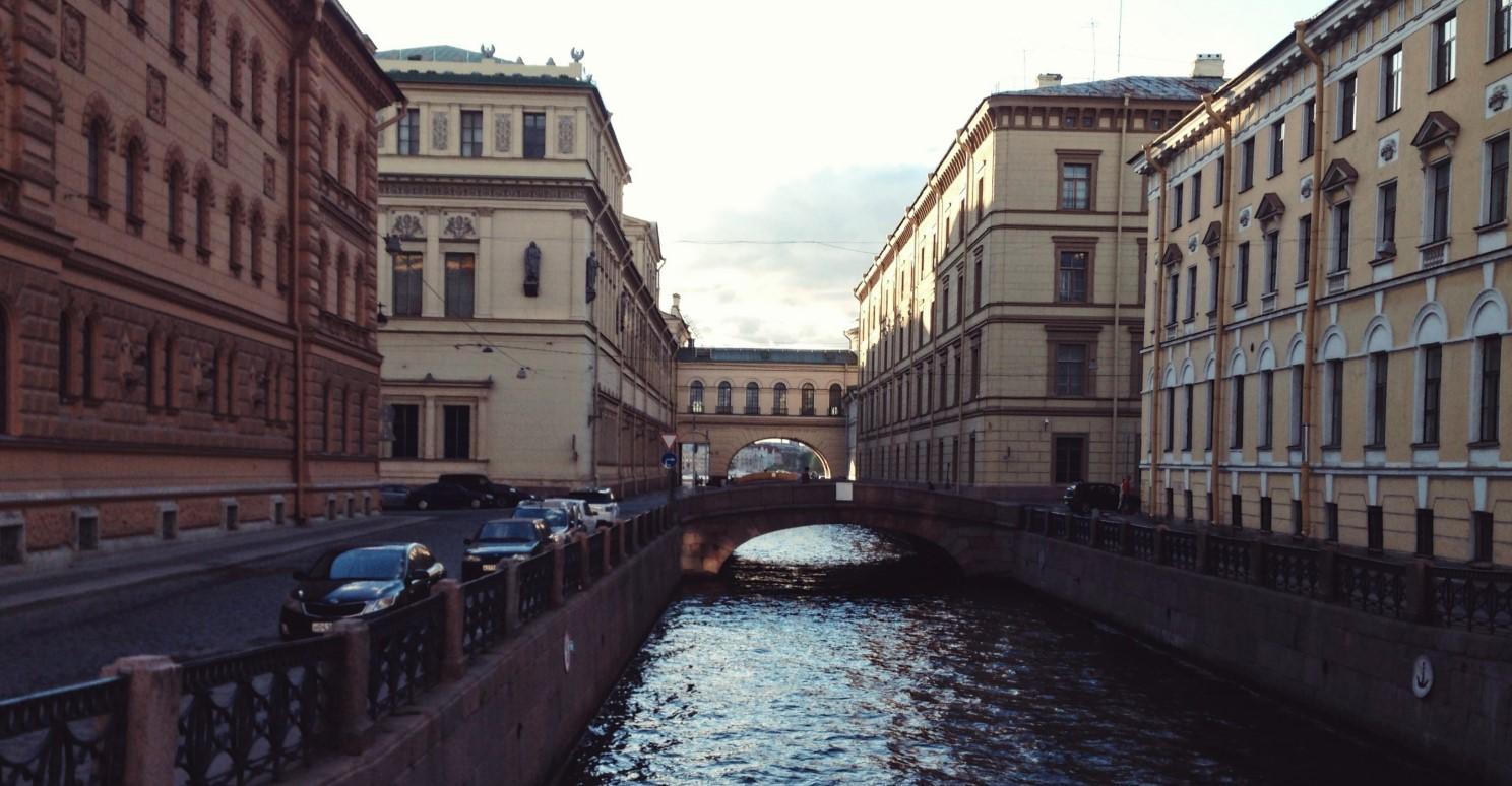 channel in St Petersburg