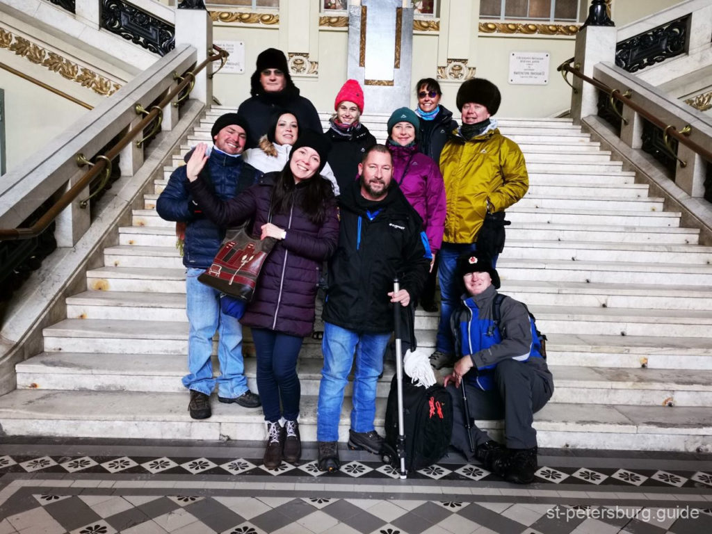 tourists from South Africa with Anna Gaplichnaya tours