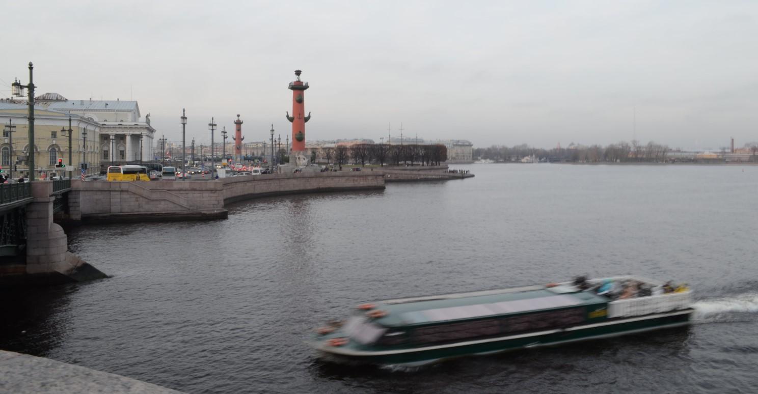 view to the Spit of Vasilyevsky Island