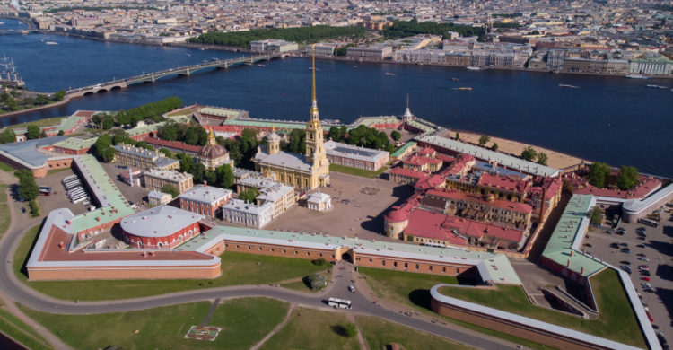 peter and paul fortress top view