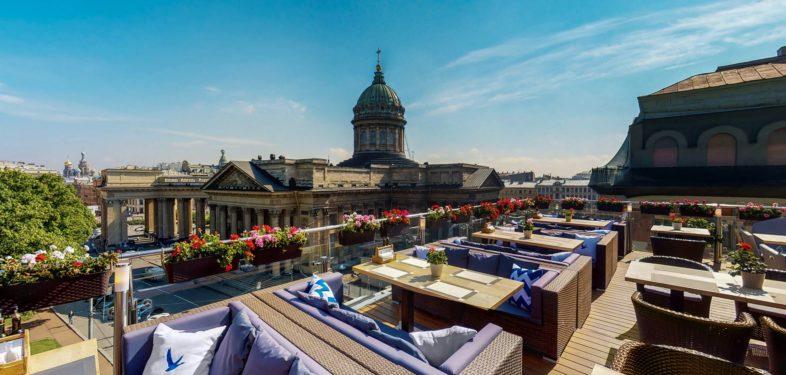 Panorama restaurant in Petersburg