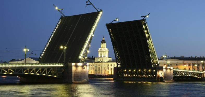 Drawbridges in Saint Petersburg Russia