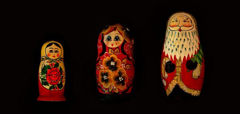 matreshka and souvenirs from russia