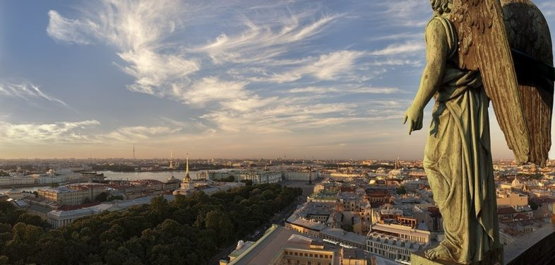 panorama view from isaac's cathedral st petersburg