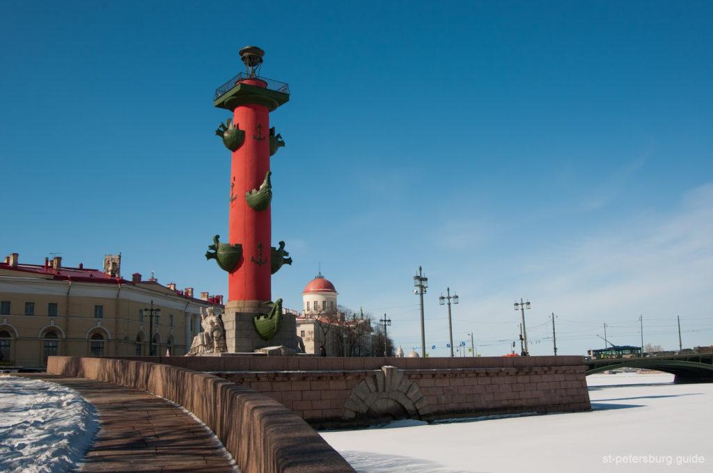 rostral column in St Petersburg