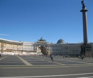 Palace Square in St Petersburg Russia