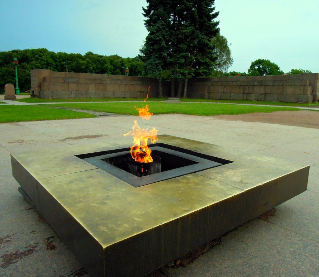 Eternal Flame on Marsovo Field in St Petersburg
