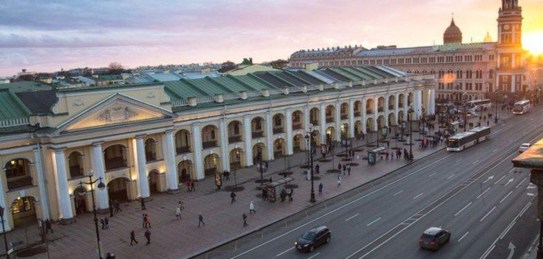 Gostiny Dvor in St Petersburg Russia