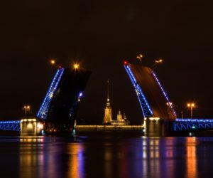Palace bridge in St Petersburg