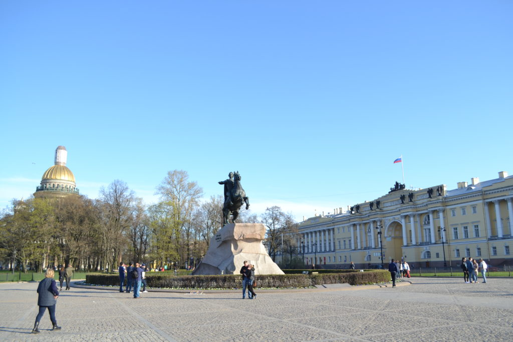 bronze horseman at the Senate Square