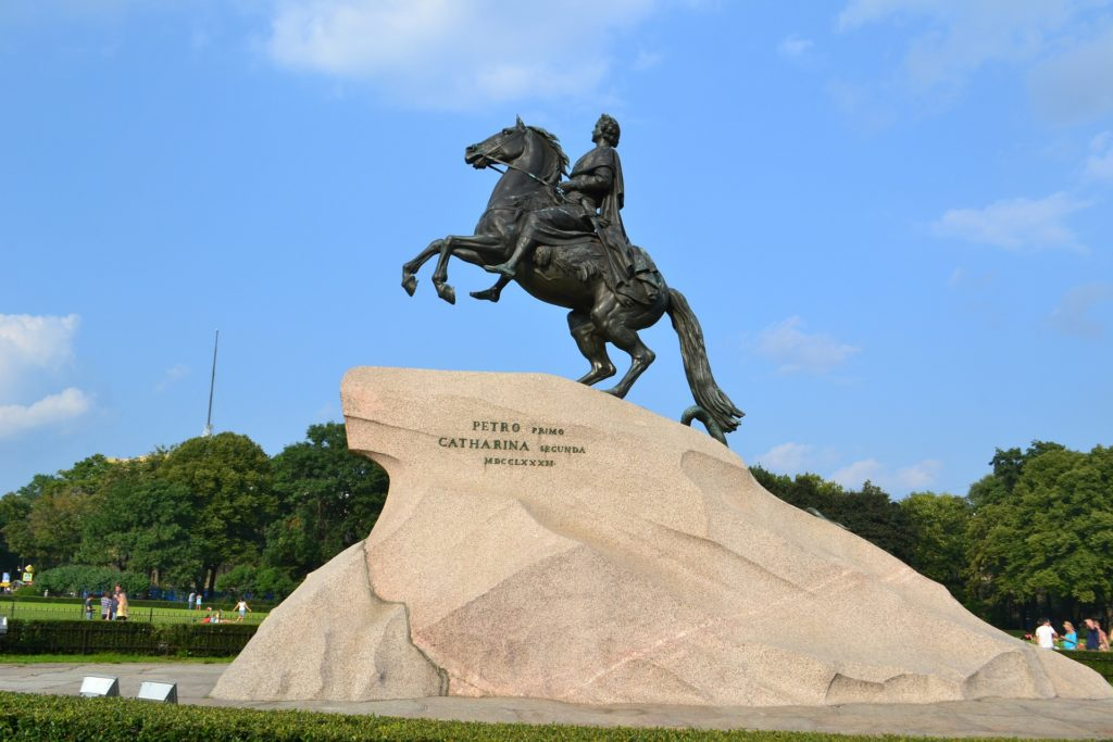 bronze horseman monument in st petersburg