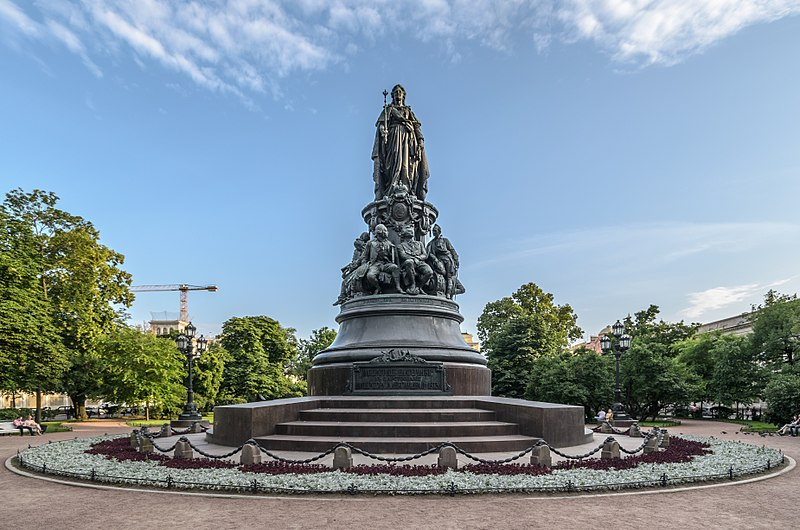 Monument to Catherine the Great in Catherine's Garden