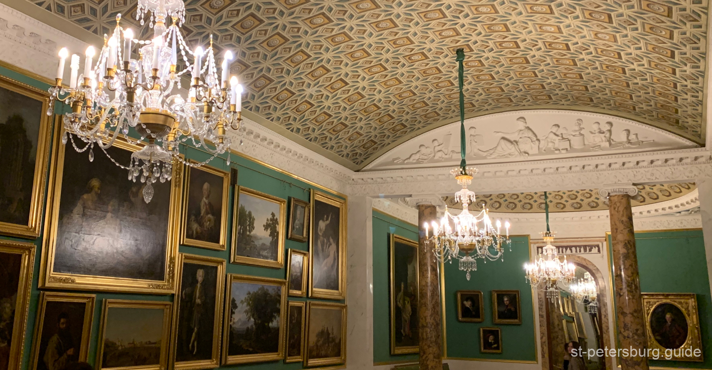 Gallery hall in Stroganov Palace. Saint Petersburg Russia