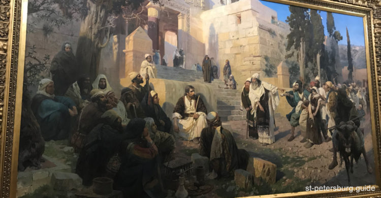 Christ and the Sinner, 1873 by Vasily Polenov. Presented in the Russian Museum in Saint Petersburg Russia