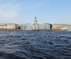 Kunstkamera on Vasilievsky island in St Petersburg