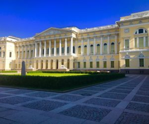 Mikhailovsky Palace at Arts Square in St Petersburg