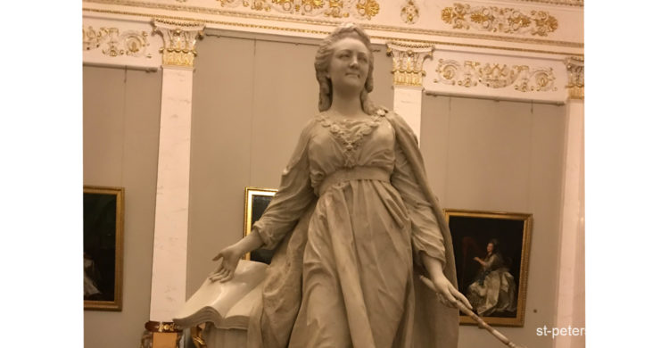 Sculpture of the Russian Empress Catherine the Great in Russian Museum. Saint Petersburg Russia