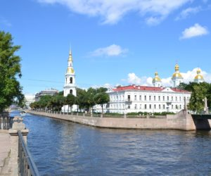 St Nicholas Naval Cathedral in St Petersburg (summer view)