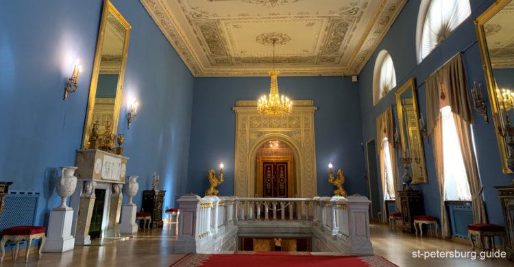 Roman hall of the Yusupov Palace. Saint Petersburg Russia