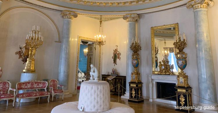 Rotunda in Yusupov Palace. Saint Petersburg Russia