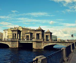 Lomonosov bridge in St Petersburg