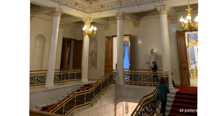 Staircase of Shuvalov Palace. Saint Petersburg Russia