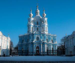 Smolny Cathedral in Saint Petersburg