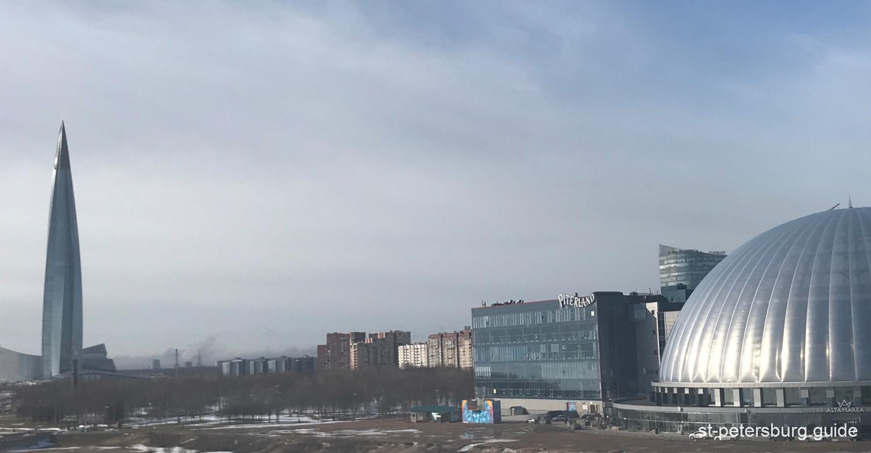 Lakhta Centre. Panorama winter view. Saint Petersburg Russia
