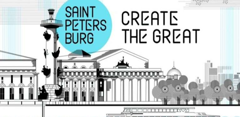 New logo of Saint Petersburg Russia