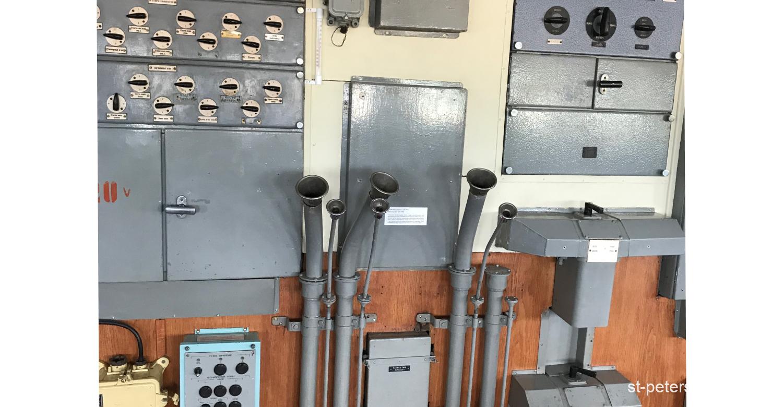 Technological setup on the icebreaker Krasin in Saint Petersburg