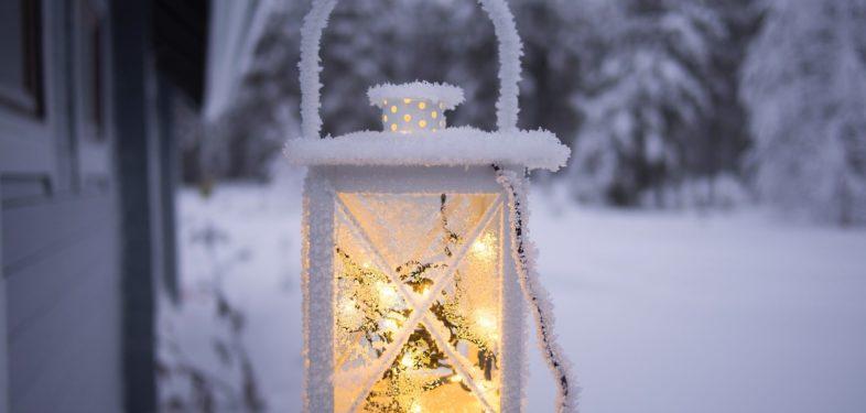 Beautiful light in snow