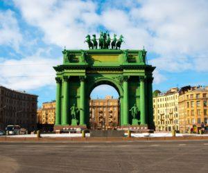 Narva Triumphal Gate in Saint Petersburg