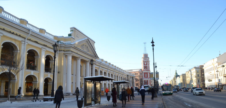 Gostiny Dvor on Nevsky Anenue in Saint Petersburg