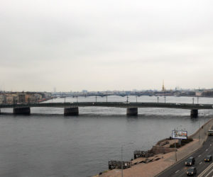 Liteynyy bridge in Saint Petersburg Russia