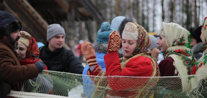 Maslenitsa celebration in Saint Petersburg Russia