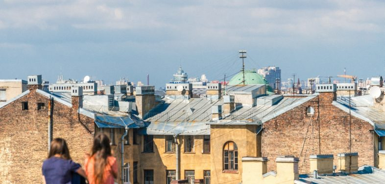 Rooftops of Saint Petersburg, Russia