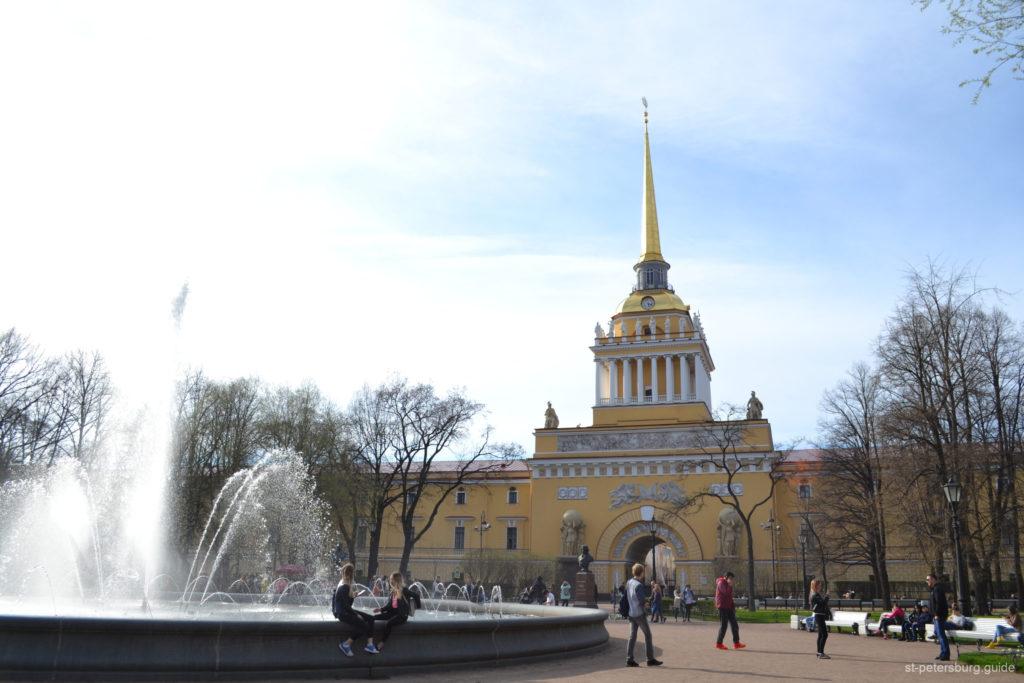 Alexandrovsky garden in Saint Petersburg Russia