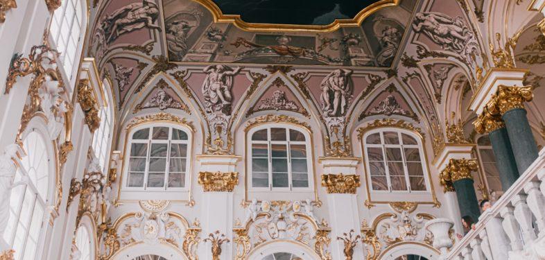 Ceiling in the State Hermitage Museum in Saint Petersburg