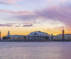 The Spit of Vasilievsky island in Saint Petersburg