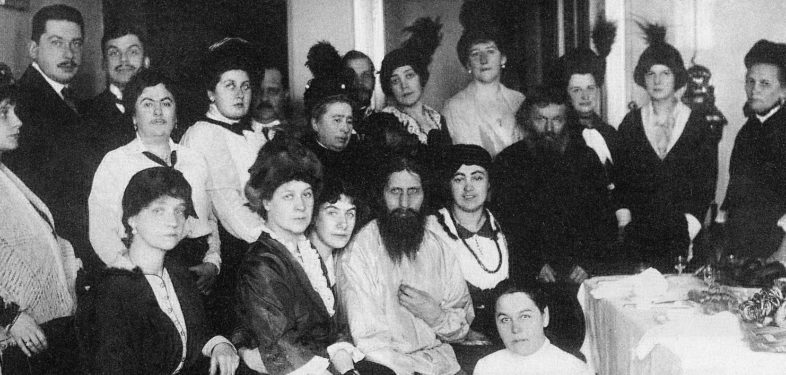 Grigory Rasputin surrounded by people